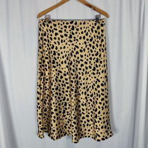 Ladies animal print elastic waist skirt XL